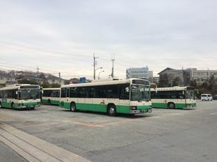 2両連接バス「華連」に体験乗車できました_1