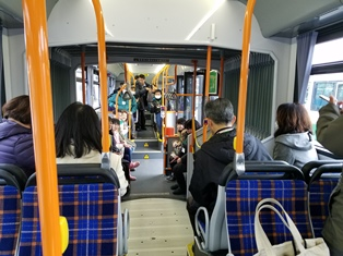 2両連接バス「華連」に体験乗車できました_5