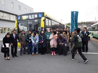 2両連接バス「華連」に体験乗車できました_8