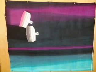 ロウケツ染で作るひとまちの旗_9